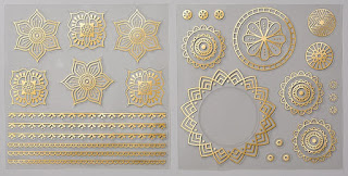 Take a look at the Eastern Gold Vinyl Stickers from Stampin' Up!