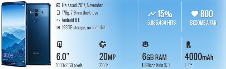 HP China Terbaik & Berkualitas - Huawei Mate 10 Pro