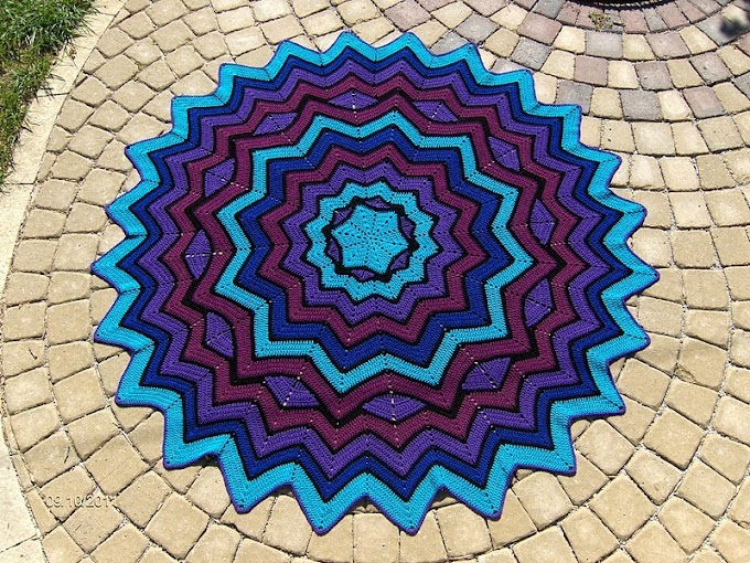 Crochet Afghan carpet - Photos, Patterns and video!