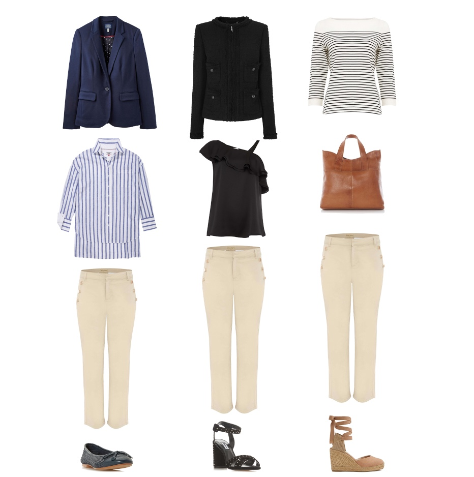 my midlife fashion. house of fraser, joules soft jersey blazer, tommy hilfiger tommy jeans oversized stripe shirt, phase eight madison button soft crop trousers, dune hennah woven ballerina shoes, phase eight bethanie breton stripe top, maison de nimes tammy leather tote bag, phase eight madison button soft crop trousers, aldo muschett espadrilles, l k bennett charlee jacket, linen clemmie one shoulder cami top, phase eight madison button soft crop trousers, dune mariianna studded heeled sandals