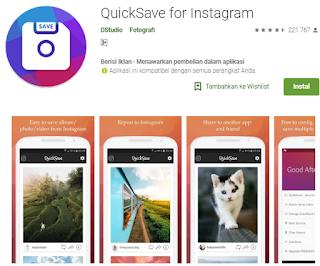 Aplikasi download video Instagram android - QuickSave