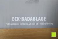 Info: KROLLMANN hochwertige Eck Badablage mit Glasboden und Reling