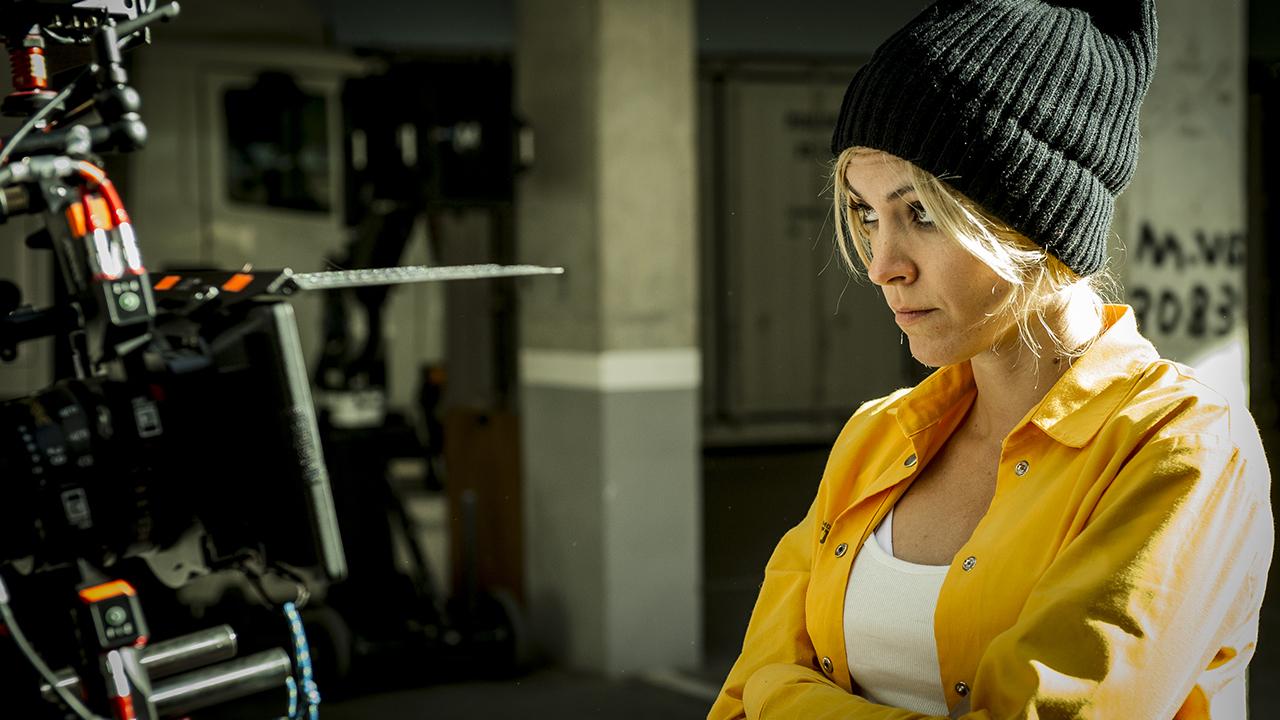 Fotografía de Maggie Civantos en el rodaje de la nueva temporada de 'Vis a Vis'