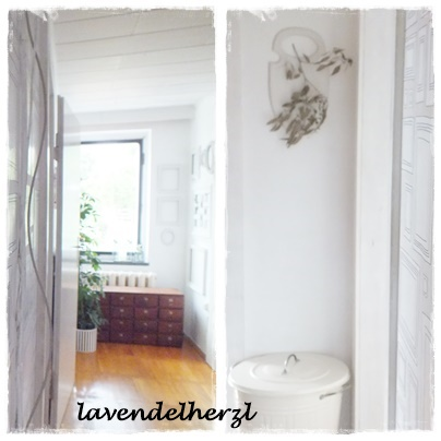 flur neue tapete und keine schuhe mehr. Black Bedroom Furniture Sets. Home Design Ideas