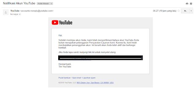 Cara Mengatasi Akun Youtube Yang Ditangguhkan