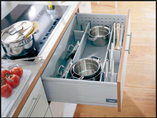 Từng khu vực trong nhà bếp đều cần có phụ kiện tủ bếp cao cấp
