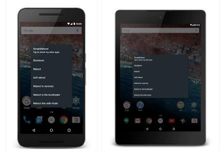 menu avanzato di comandi e spegnimento telefono su android
