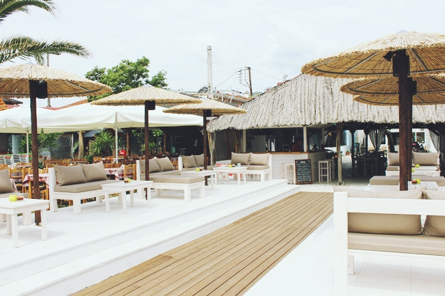 Sarti beach bars