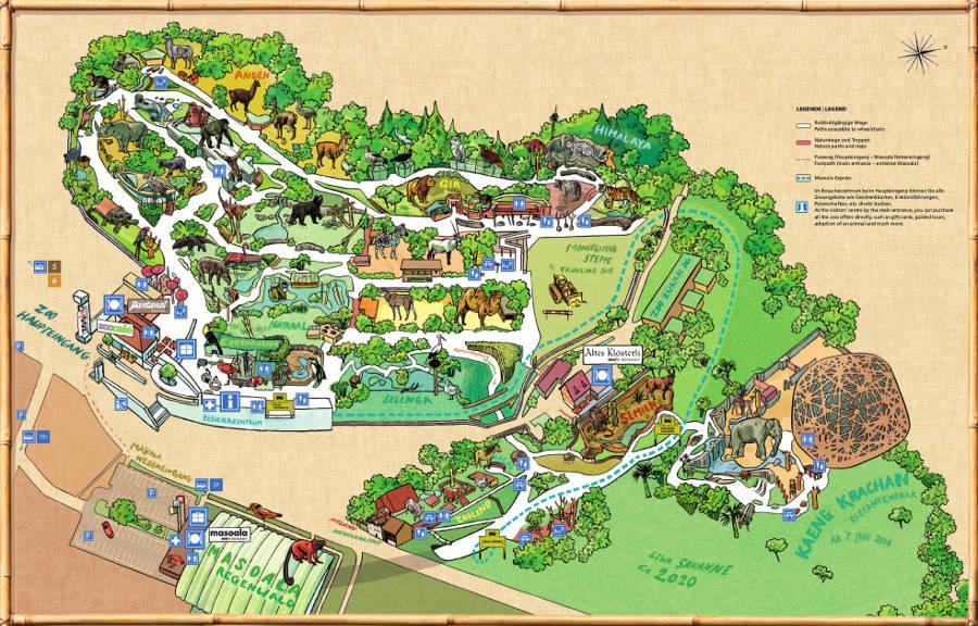 Mapa Zoológico de Zurich - Suíça
