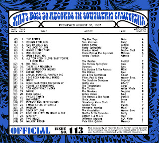 KHJ Boss 30 No. 113 - August 30, 1967