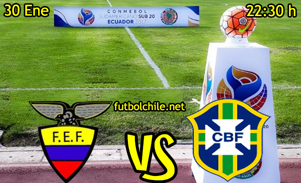Ver stream hd youtube facebook movil android ios iphone table ipad windows mac linux resultado en vivo, online: Ecuador vs Brasil