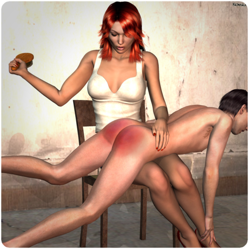 cfnm spanking his ass