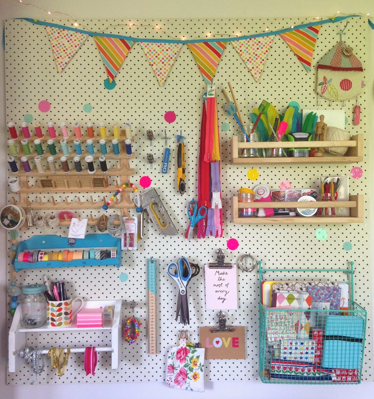 mousehouse: Craft Room Pegboard DIY