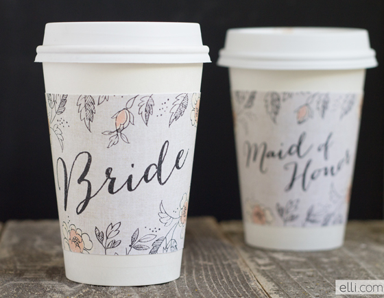 Free Printable Labels for Wedding Glasses.