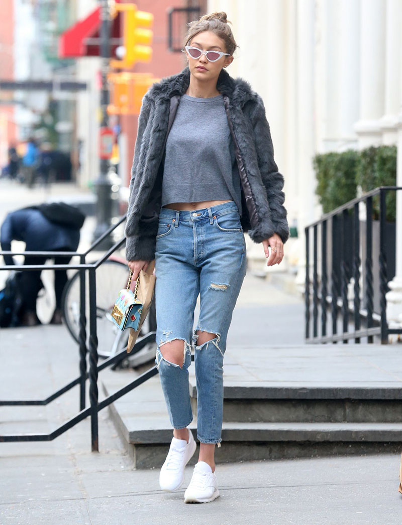 Gigi Hadid leaving Blick Art Materials in Manhattan, NYC 2/3/ 2017