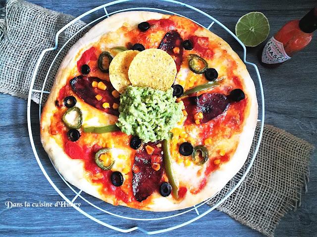 Pizza aux saveurs Mexicaines - Dans la cuisine d'Hilary