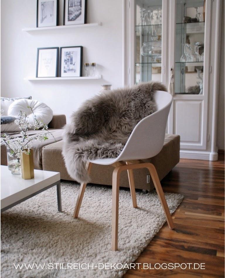 schaffell stuhl