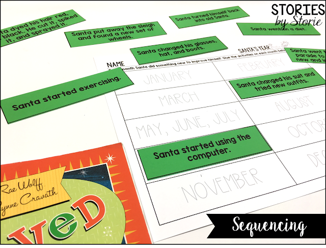 In A New Improved Santa, students read all about the changes Santa is making during the year. Students can use this sequencing activity to help get Santa's changes into the correct order.