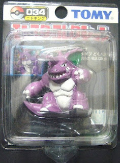 Nidoking Pokemon figure Tomy Monster Collection black package series