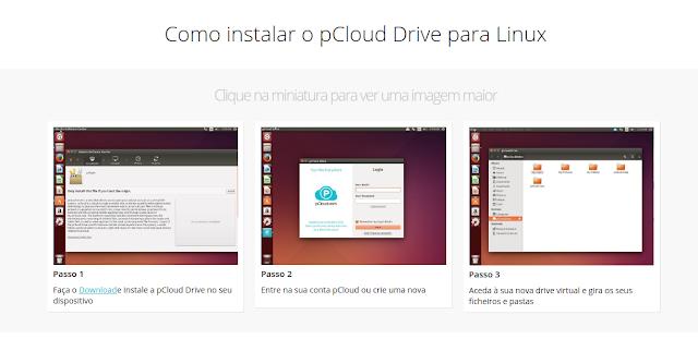 Como instalar o pCloud no Ubuntu