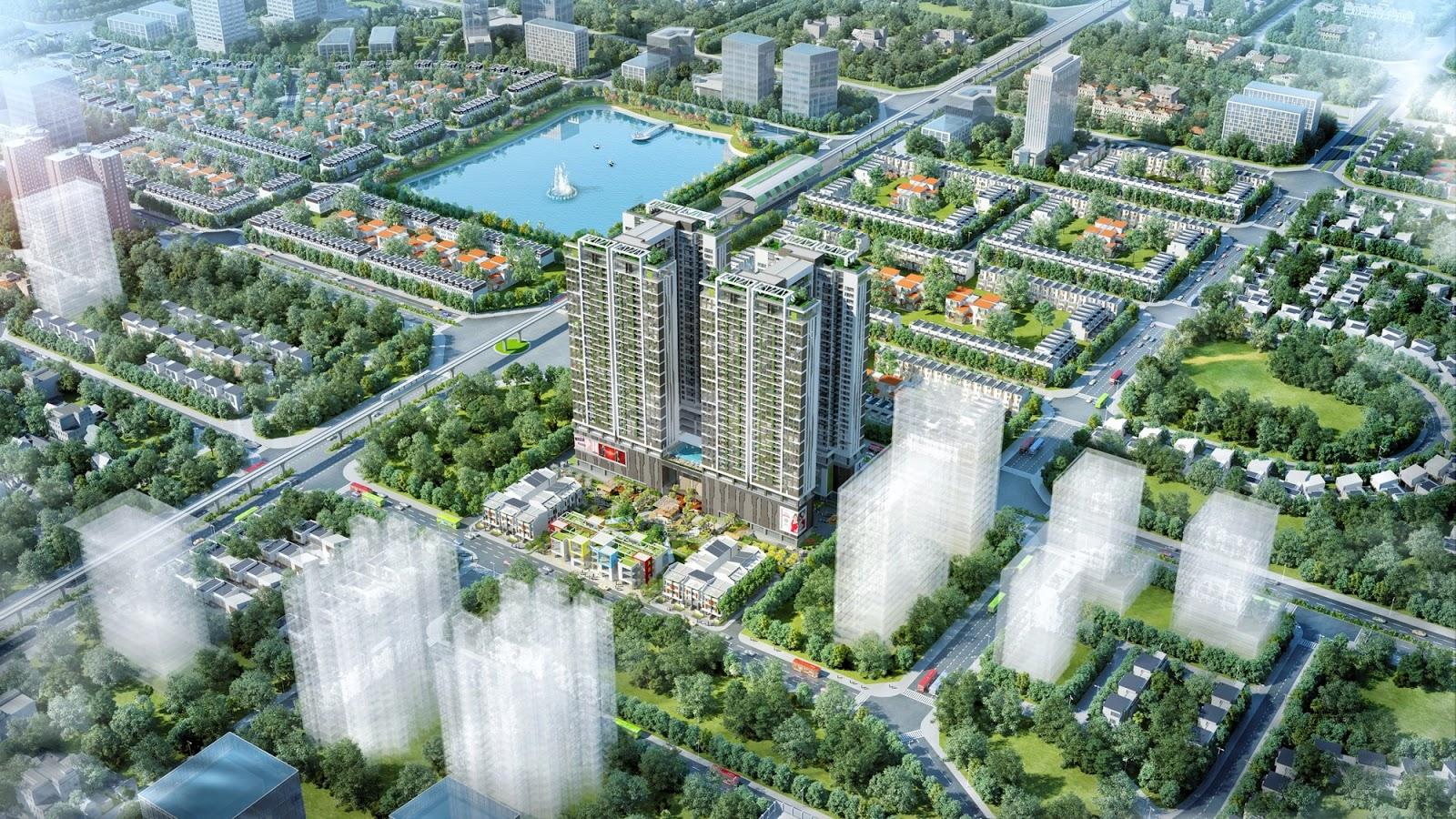 Phối cảnh dự án 6th Element thuộc khu đô thị Tây Hồ Tây sổ do Q. Tây Hồ cấp