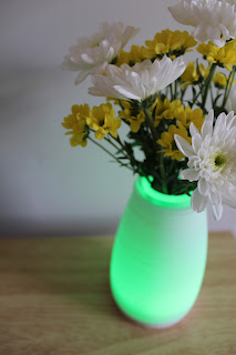 green light up vase