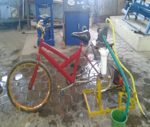 Pedal Powered Water Pumping and Purification Mechanical Project