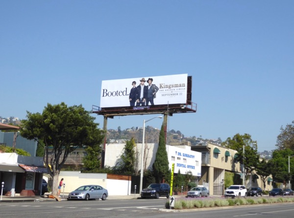 Kingsman booted billboard