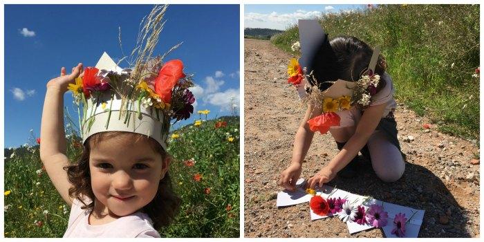manualidades, diy, crafts, actividades infantiles primavera motricidad fina corona de flores