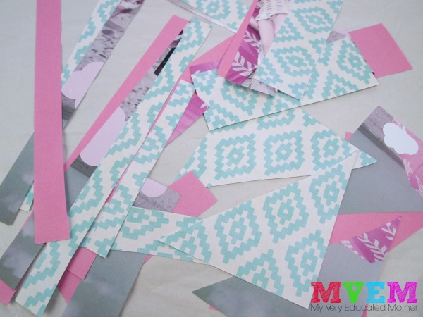 Gather scrap paper to create a Valentine's Day kids craft.