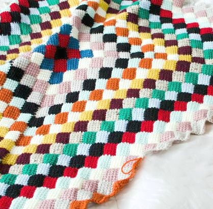 Little Treasures: Entrelac crochet