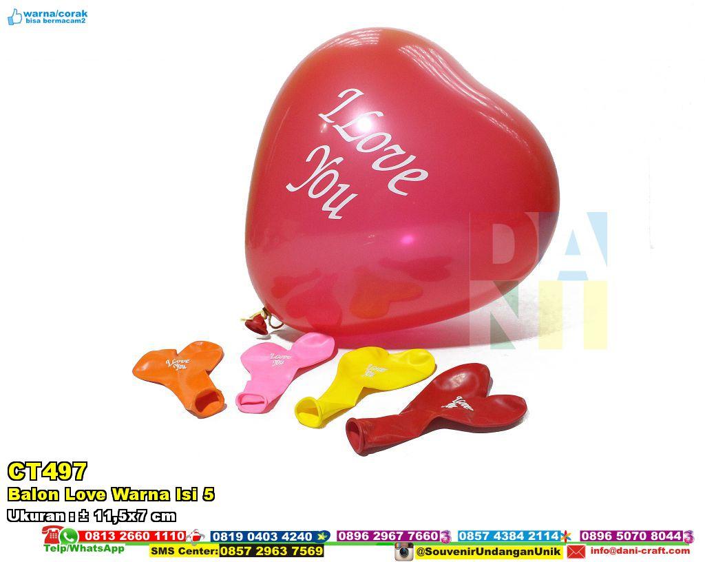 Balon Love Warna Isi 5  Souvenir Pernikahan