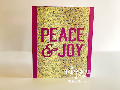 Card 1:  Custom Dies: Peace & Joy  Paper Collection: Winter, Plum Pizzazz