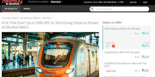 nearbuy Mumbai Metro Discount on Monthly Pass with short trip or Long Trip