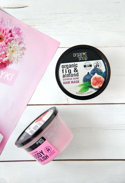Organic Shop, nabłyszczająca maska do włosów Grecka figa i olej migdałowy
