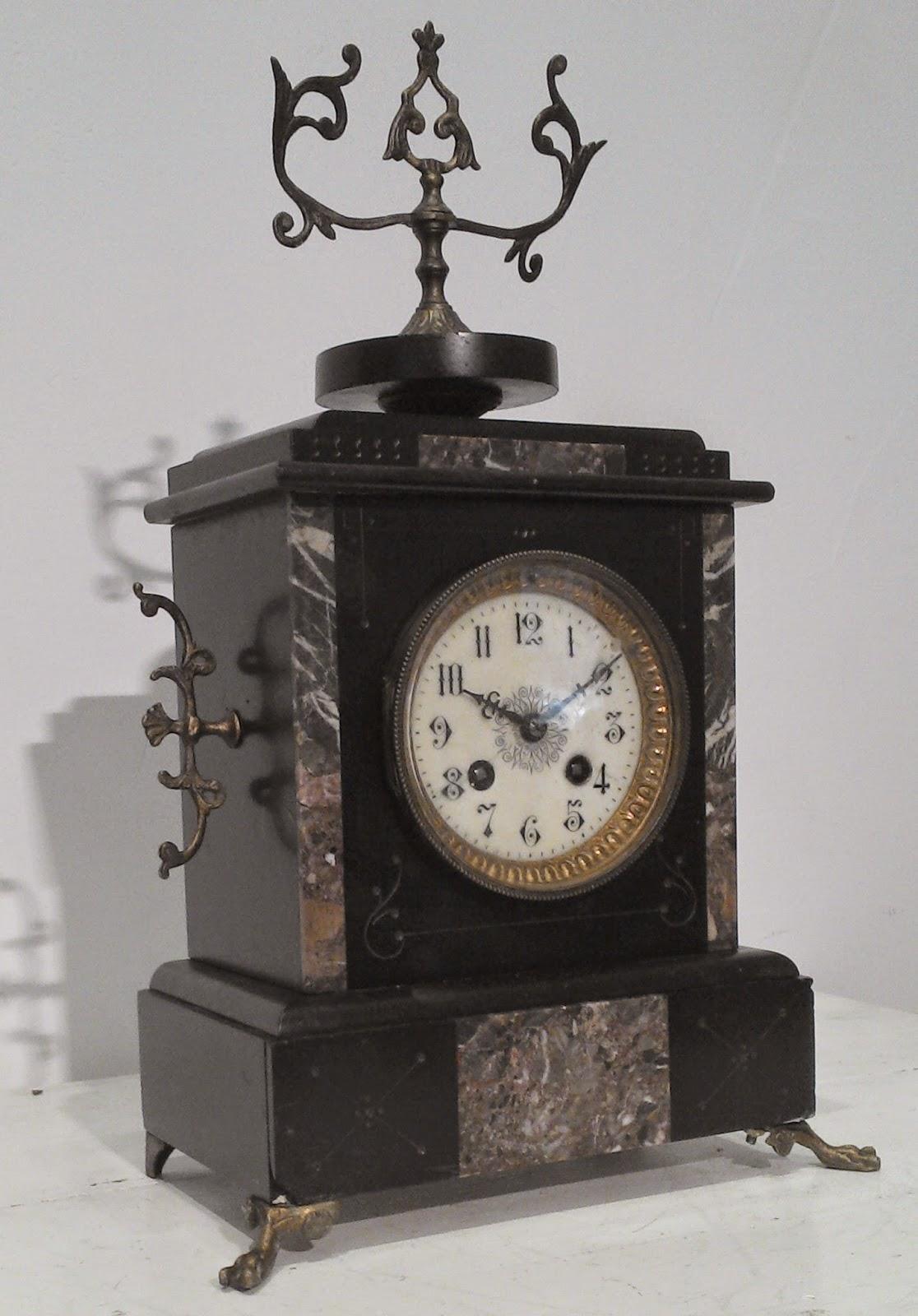 ancienne pendule napol on iii marbre noir mouvement de paris ad mougin. Black Bedroom Furniture Sets. Home Design Ideas