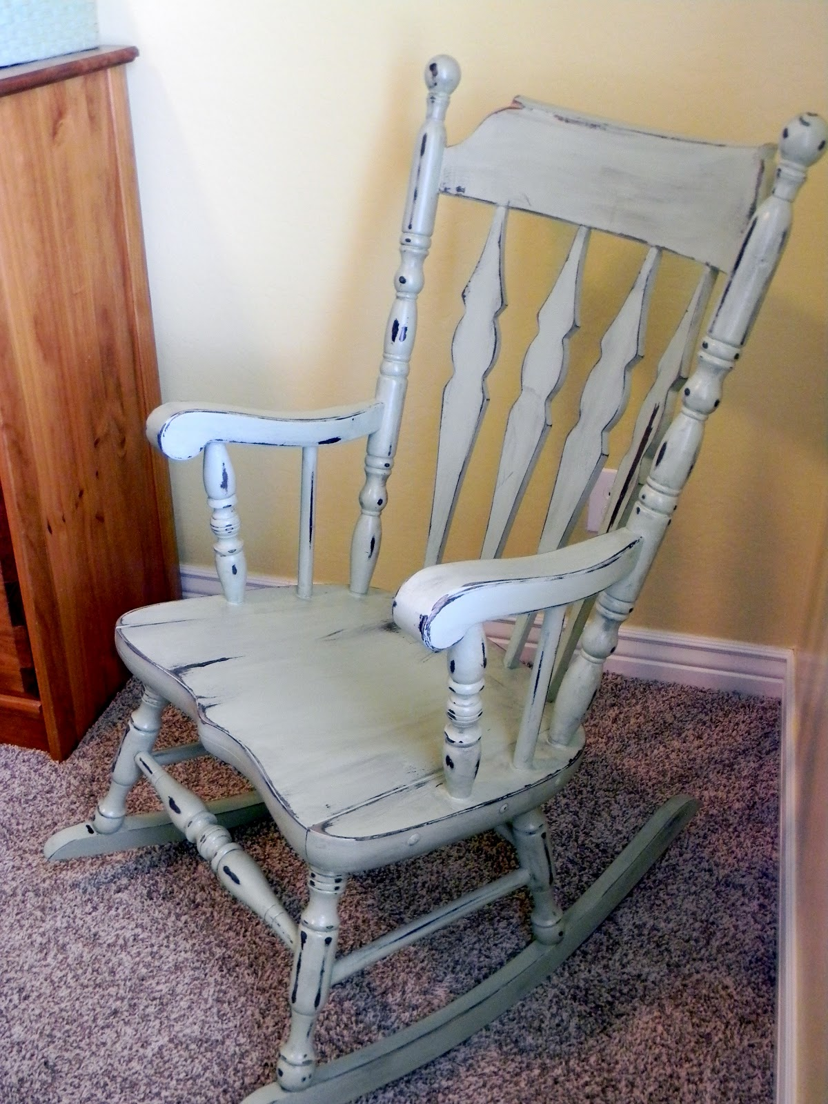 little bit of paint my mother 39 s rocking chair. Black Bedroom Furniture Sets. Home Design Ideas