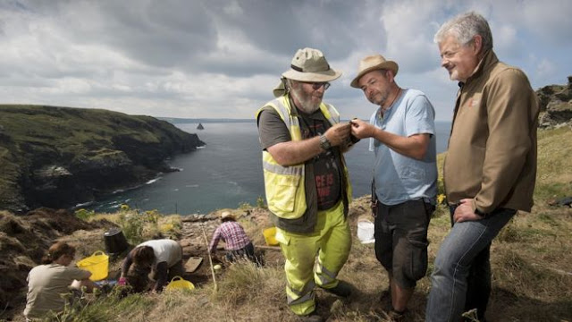 King Arthur's Tintagel 'birthplace' dig finds 'royal residence'