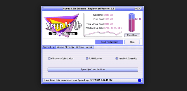 برنامج SpeedItUp Extreme لتسريع الالعاب