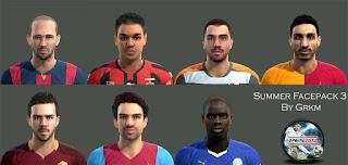 Faces: Aleix Vidal, Ben Arfa, Harun Tekin, Jose Rodriguez, Pjanic, Muhammet Demir, N'golo Kante, Pes 2013