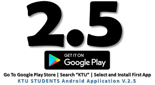 ktu app new version 2.5 ktustudents app
