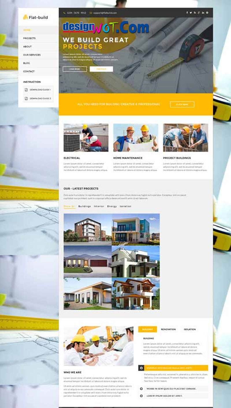 FLATBUILD HTML Construction Business Template