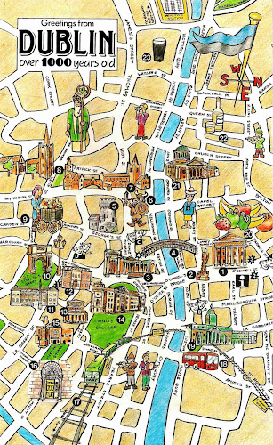 Dublim turist map