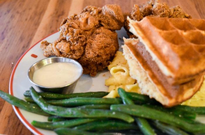 Founding Farmers fried chicken