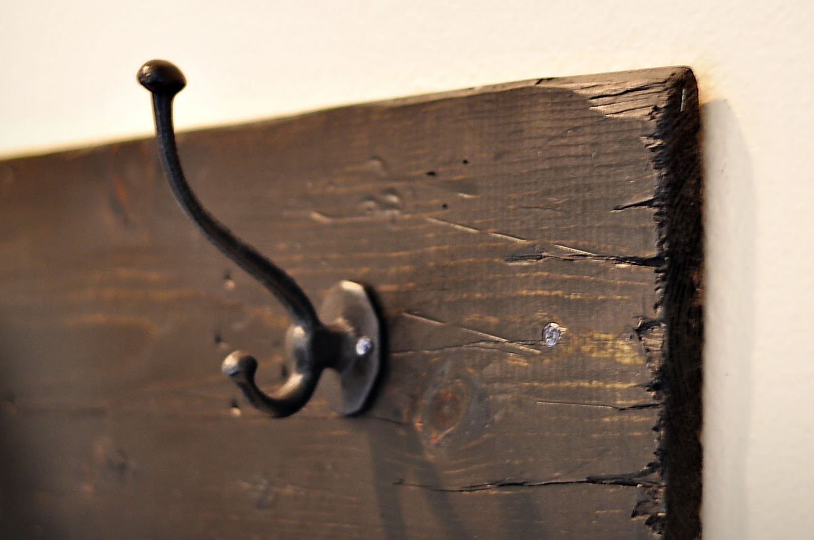 The Cheese Thief: Extra Long Coat Rack Tutorial