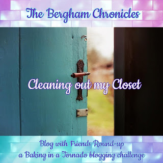 Blog With Friends, a multi-blogger project based post incorporating a theme, Spring Cleaning.  | Cleaning out my Closet by Jules of The Bergham Chronicles | Featured on www.BakingInATornado.com