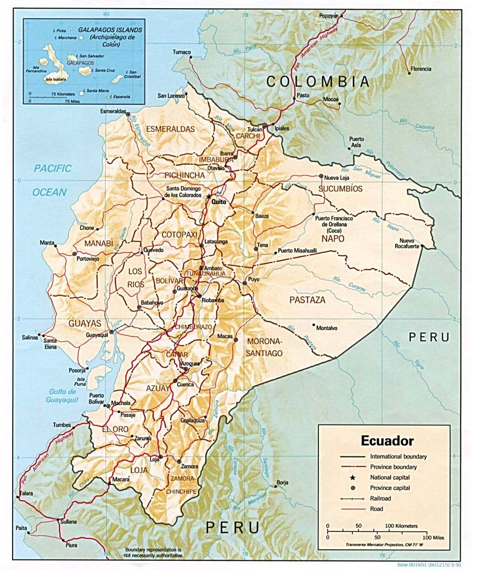Travelling With Steve And Marlene Quito Ecuador A Stepping Stone - Where is ecuador located