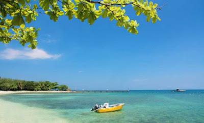 keindahan pantai tanjung lesung pandeglang