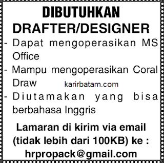 Lowongan Kerja Drafter/Designer