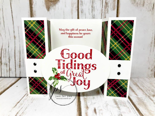 Good tidings, Stampin'Up!, Bridge Fold